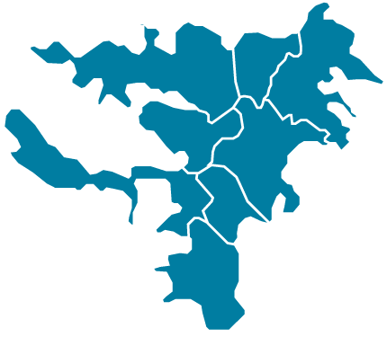 Carte des quartiers