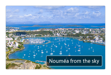 Nouméa from the sky